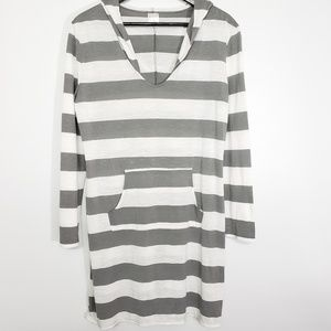 Merona Hooded Striped Swim Cover-up, size M